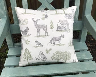 Woodland Cushion Cover, Cusgion Cover, Stag Cushion Cover, Owl Cushion Cover, Woodland, Cushion Cover
