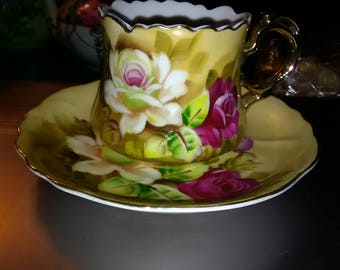 Lefton Vintage Tea Cup and Saucer