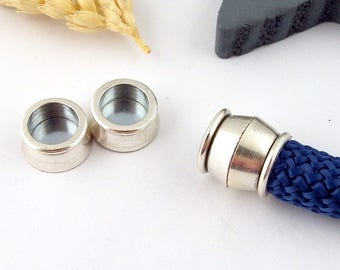 cord silver plated magnetic clasp 10mm round