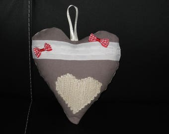 Heart shape pillow of door decoration
