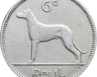 1952 Ireland 6 Pingin / 1 Reul Coin