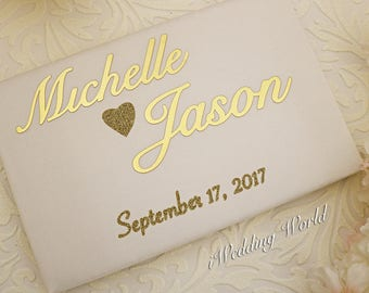 Personalized Wedding Guest Book, Wedding Signing  Book, Customized Wedding Book, Custom Book, Gold Wedding Book set