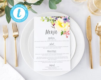 Wedding menus, printable wedding menus, wedding menu, Baby shower menu,  wedding menu cards, printable menu cards, wedding menu card