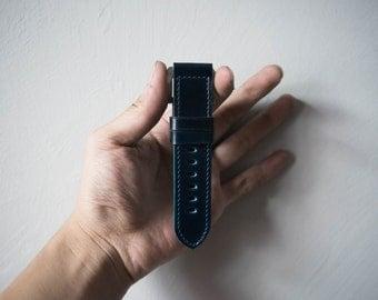 Shell Cordovan 18mm 20mm 22mm 24mm  Panerai Watch Strap - Navy Blue