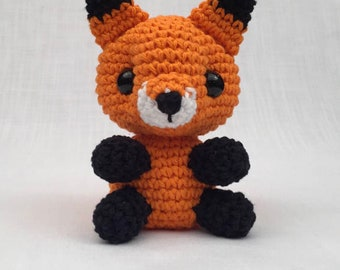 Crochet fox pattern, Amigurumi, Stuffed Toy, Cuttlefish Plush, fox Plushie, Stuffed Animal, fox Toy