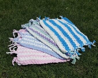 Chenille Crochet Baby Lovie Blanket