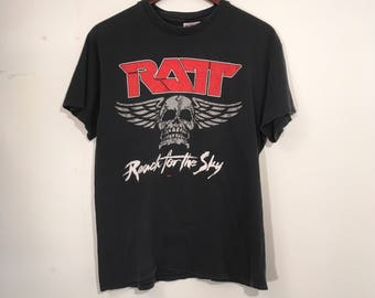 Vintage 80's Ratt Reach For The Sky Tour Shirt Medium