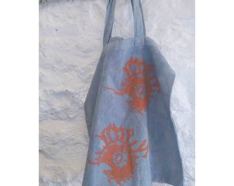 100% Cotton Hand Dyed & Screen Printed Tote Bag