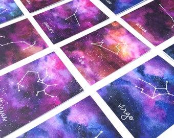Zodiac Sign Birthday Card / Astrology / Horoscope Greeting Card