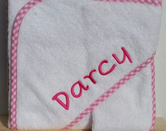 Personalised Hooded Towel with Face Washer