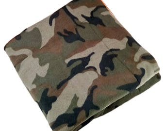 "FREE SHIPPING 40"" x 50"" plush Camo Pet Blanket, dog blanket, cat blanket"