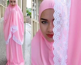 Cute Prayer Dress Muslim Two-Piece Abaya Talakong Muslim Islamic Abaya Set Hajj Umrah