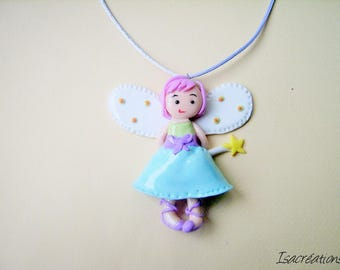 little shy fairy handmade necklace