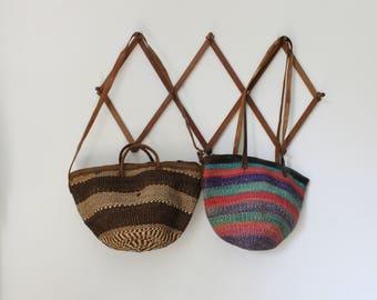 sisal bag woven bag handbag shoulder bag vintage handbag woven handbag