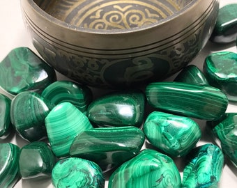 Green Malachite (Tumbled)