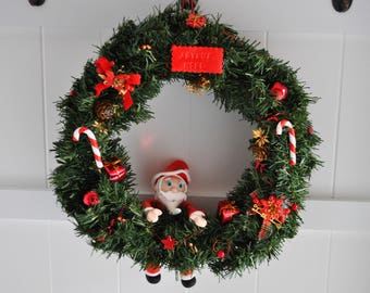 unique large wreath Christmas comedy about 38cm in diameter