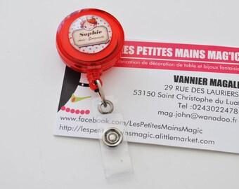 "Scissor holder / reel ""yoyo"" retractable badge holder"