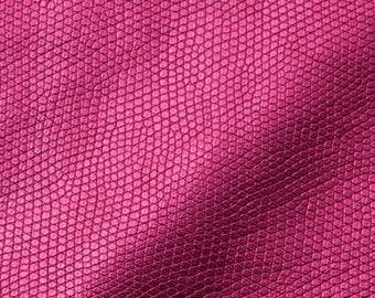Snakeskin Fabric: Metallic pink