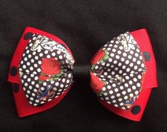 Rockabilly hair bow, Rockabilly bow, rockabilly style, rockabilly