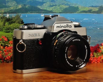 Vintage MINOLTA XG-1 SLR Auto Exposure 35mm Film Camera, 45mm f/2.0 Lens, Full Manual Capable, New Light Seals, Circa: 1978-1984, Awesome!