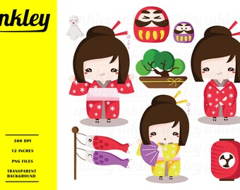 50%OFF!! Japan Cute Clipart - Cute Clipart, Japan Clipart, Fun Clipart, Clipart Set, Adorable Digital Clip Art