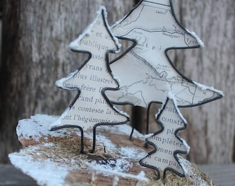 Wire sculpture / walk in the forest! Christmas tree