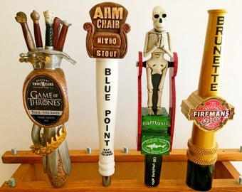 Rare Tap Handles-Dogfish Head Namaste-Game of Thrones Three Eyed Raven-Firemans Brew-Blue Point Arm Chair-Fireman Gift-Beer Tap-Keg Tapper