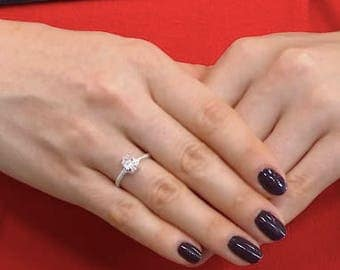 Herkimer Diamond Solitaire Ring