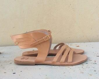 Hermes Greek Sandals, Sandals of Hermes, Winged Greek sandals,Hermes Gladiators,Leather Greek Sandals,Handmade sandals,Winged Hermes Sandals