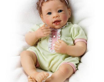 Ashton Drake - Raspberry Kisses So Truly Real Touch-Activated baby girl doll by Linda Murray