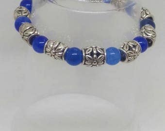 Blue and silver-toned bracelet