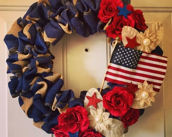 4th Of July/ Memorial Day/ Americana wreath