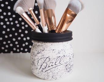 mason jar makeup brush holder. mason jar makeup brush holder