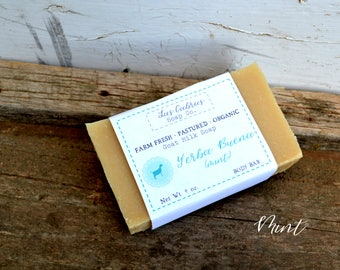 Yerba Buena (mint): Farm Fresh | Pastured | Organic Goat Milk Soap