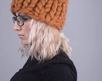 SUMMER SALE Chunky hat, merino wool, womens hats, slouchy beanie, knitted.