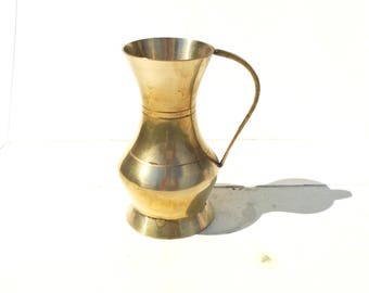 Brass Pitcher, Miniature Pitcher, Brass Jug, Brass Vase