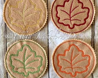 Fall Leaf Coaster Set
