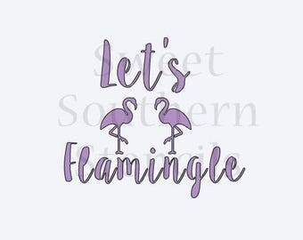 Let's Flamingle Cookie Stencil