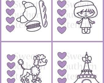 Paris/French PYO Cookie Stencils