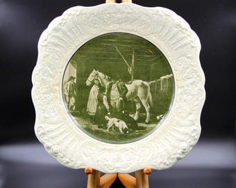 "Antique Ridgways 1814 Renaissance England R. A. Ware From Painters by Famous Artists ""The Reckoning"" Plate"
