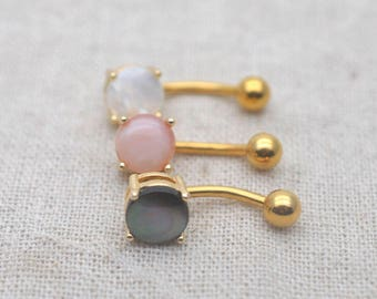 belly button rings natural shell navel ring 14k gold belly ring,gift for her