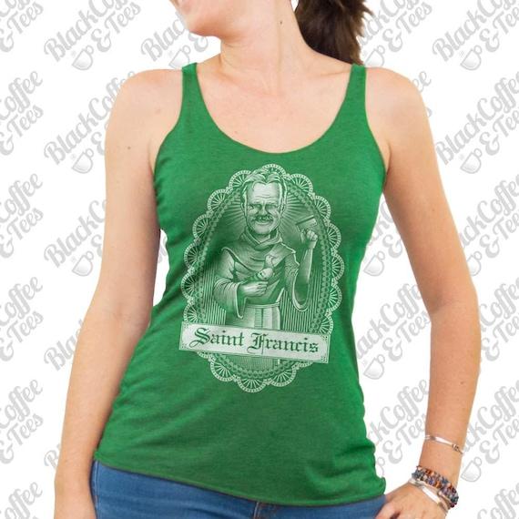St Patricks Day Shirt - Shameless Shirt- Womens Frank Gallagher Shirt - Frank from Shameless Shirt Hand Screen Printed Green Tank Top