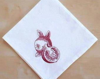 Shana Tova Napkins Shanah Tovah napkins Pomegranates Napkins Rosh Hashana Gift Rosh Hashana Table Jewish New Year Gift Rosh Hashana