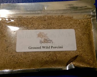 Wild Porcini Mix Ground Seasoning 2 pack  Wild harvested, Sustainable, Culinary Mushroom.  Great flavor, Super Healthy stew addition