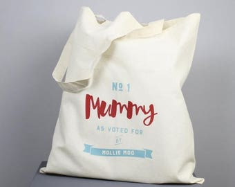 ON SALE Number One Mummy Tote Bag - personalised, tote bag, shopping bag