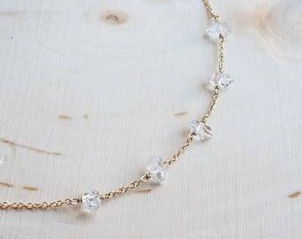 Five Herkimer Diamond Choker
