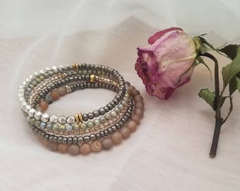 Memory wire stacking bracelet
