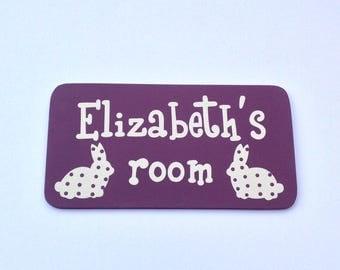 Girls personalised door sign, bedroom door sign, name sign, custom door sign, bedroom door plaque, childrens door sign
