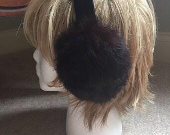 Vintage Rabbit Fur Earmuffs