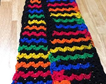 Rainbow Zigzag Scarf